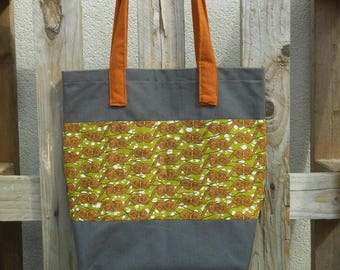 Totebag lined (strong) Wax, inside pocket