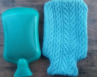 Soft 100% WOOL Hot Water Bottle Cover