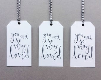 You Are So Very Loved Gift Tags // 3 pack // I Love You Present Wrapping Decoration // Charity Holiday Gift Wrap
