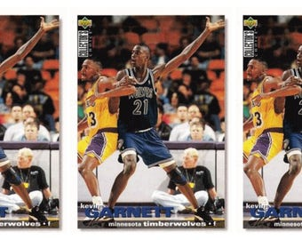 3 - 1995-96 Upper Deck Collector's Choice #275 Kevin Garnett Rookie Card Basketball Card Lot