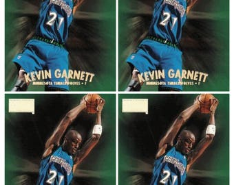 4 - 1997-98 Skybox Premium #111 Kevin Garnett Basketball Card Lot