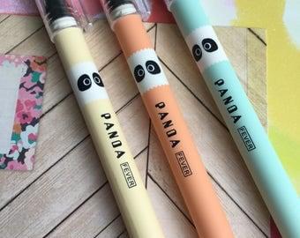 Panda Gel Pen - Orange / Turquoise / Yellow