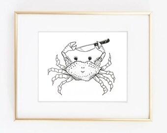 Stabby Crab Print