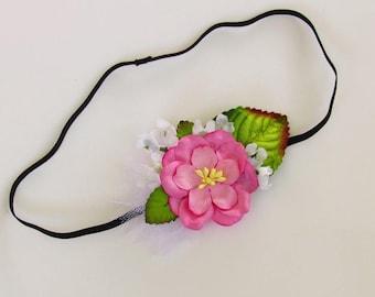 Baby Photo Prop - Flower Headband Baby Girl, Baby Flower Crown, Baby Flower Headbands, Newborn Photo Prop Headband, Flower Headbands Baby