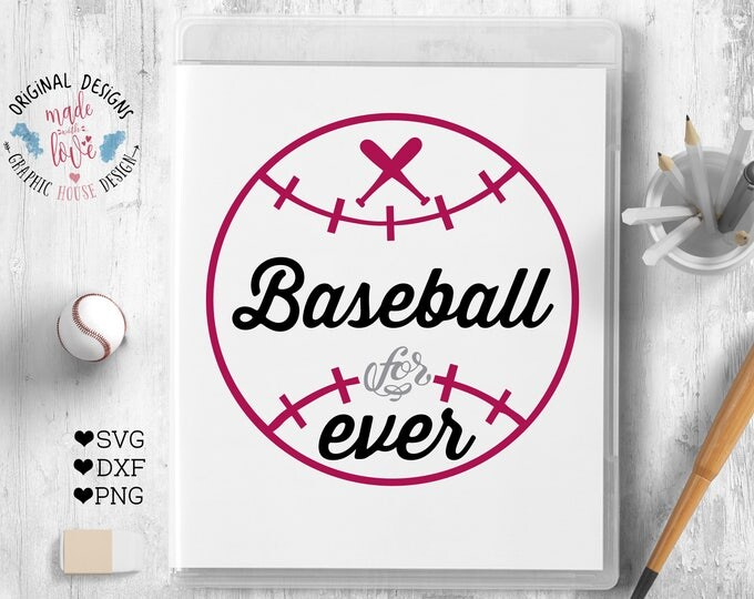 Baseball Cut File available in SVG, DXF, PNG can be used as Cut File, Baseball Printable, Sports svg, Baseball Cricut, Baseball Silhouette