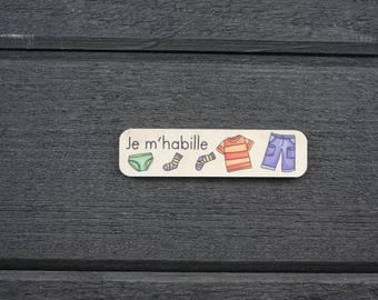 Responsibility challenge wooden symbol. I wear. The challenges of the Pack task Board. 5-10 years