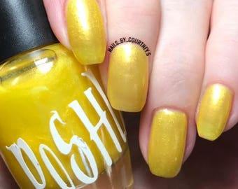 "Unique ""Rich & Ritzy"" Pearl Yellow Nail Polish Full Size 15ml Bottle"
