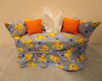 Toy Duck Couch Tissue Box Cover