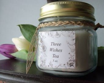 Candle Three Wishes Tea Scented
