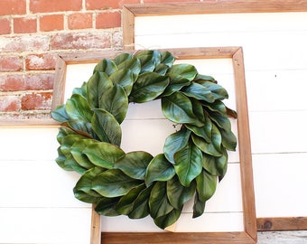 Shiplap Art & Magnolia Wreath - Reclaimed Wood - Handmade - Farmhouse - Home Decor - Custom Pieces