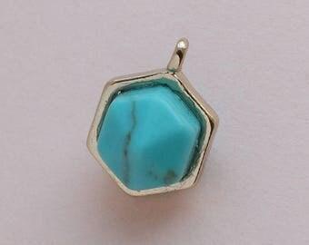Hexagonal Turquoise pendant