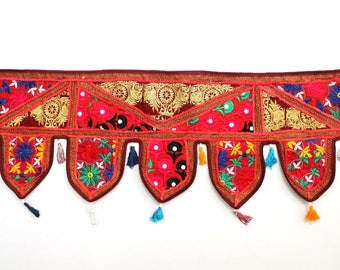 Handmade Window Door Valance Home Decor Decorative Embroidered Patchwork Toran Pelmet Topper Drapery Top Hanging Tent Decoration Art K337