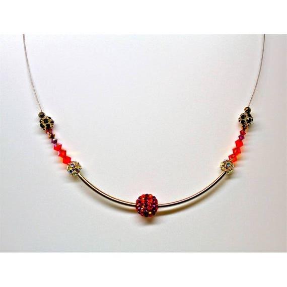 Pearl SWAROVSKI RHINESTONE glamour necklace