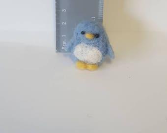 Teeny tiny needle felted penguin