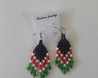 maasai earrings / beaded earrings / african earrings / colorful earrings