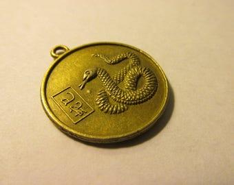 "Year of the Snake Zodiac Charm, 1"""