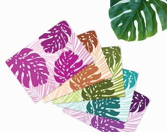 Monstera Greeting Cards - Set of 5