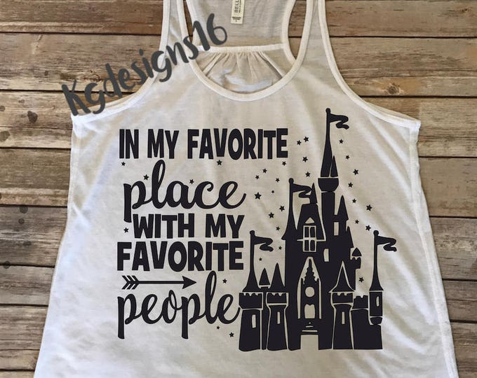 My Favorite Place Iron On Decal-In My Favorite Place Vinyl Decal-Vinyl Decal-My Favorite People Tank Top