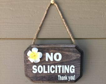 No Soliciting, No Soliciting Plaque, No Soliciting Sign, No Soliciting Please, Please No Soliciting Sign, Hanging Sign