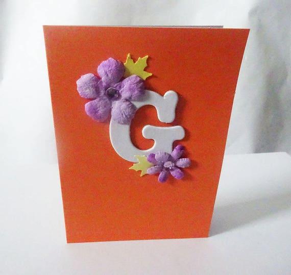 """Monogram/Initial Card - Letter """"G"""""""