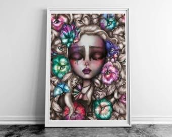 Poster. Sleeping beauty illustration