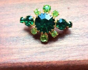 Beautiful green stone brooch