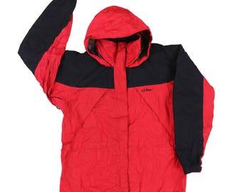 Vintage 90s L.L. Bean Windbreaker Jacket Hoodie