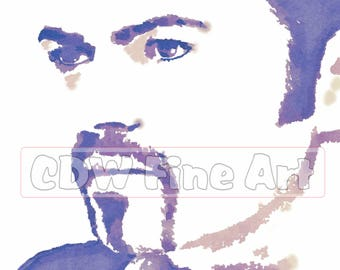 George Michael - Limited Edition Print of my original Water Colour Painting