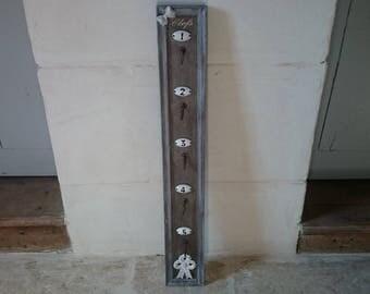 Key chain/hook-key hooks 5 shabby vibe