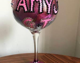 Handpainted Gin Glass