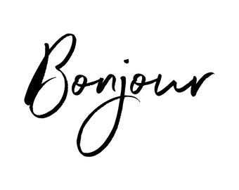 Bonjour Wall Decal ~ Bonjour Sign ~ Nursery Decor ~ Bonjour~ Nursery Wall Stickers ~Wall Decals Nursery ~Wall Stickers ~French Words