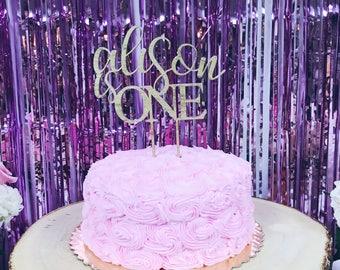 Custom Cake Topper with Name - Birthday - Celebration - Party
