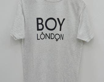 BOY LONDON Distressed Shirt Vintage 90's Boy London Spell Out Tee T Shirt Size M