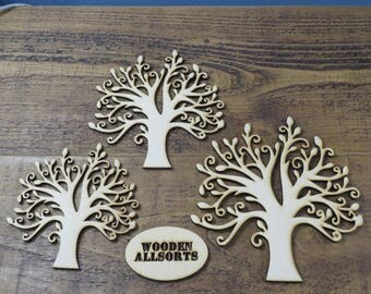 175mm MDF Family Tree. Made Using 3mm Wood