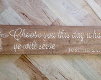Joshua 24:15 Wall Art