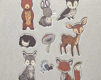Woodland Creatures Stickers