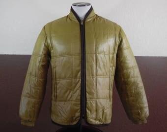 Vintage 1950s Campus Fleece lined Light Brown Coat Jacket size 38