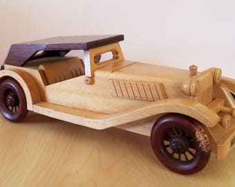 RARE Vintage Handcrafted Wooden Car 1960-1970 Classic Car wooden art
