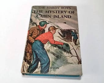 The Hardy Boys #8, The Mystery of Cabin Island by Franklin W. Dixon  Hardcover, 1st Edition  Mystery/Adventure