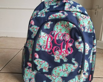 Elephant Rosey backpack and lunch bag set