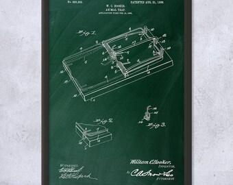 Framed Mouse Trap Patent Art Print Gift, Mouse Trap Art, Rat Trap, Pest Control, Animal Control, Framed Patent Print, Framed Patent Art