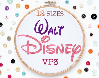 12 Sizes Disney Embroidery Font VP3 Format Embroidery Machine,Initials Monogram,Monogram Design,Instant Download