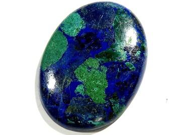 53Cts Azurite Malachite Loose Gemstone Cabochon Oval Shape Excellent!!! Azurite Stone - Azurite Cabochons Top Quality Natural Gems 38X28X6mm
