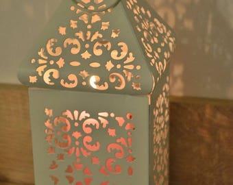 10%OFF Off white vintage Moroccan lantern / wedding lanterns / rustic lantern / lanterns / wedding centerpiece