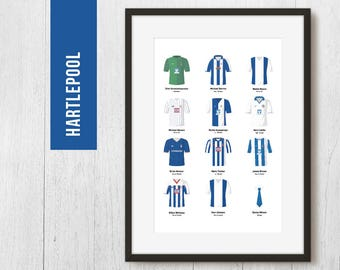 PERSONALISED Hartlepool Print, Football Poster, Football Gift, FREE UK Delivery