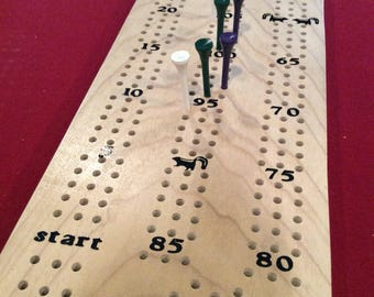 Handmade Poplar Cribbage Board