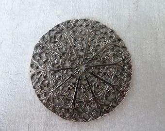 large nickel black round stamp 46 mm