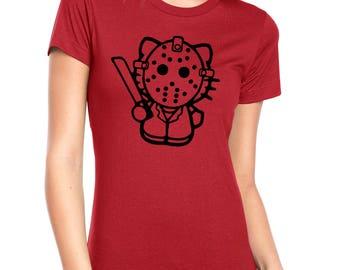 Hello Kitty Monsters Next Level 4.3 oz Ladies' Boyfriend Crew Neck Tees
