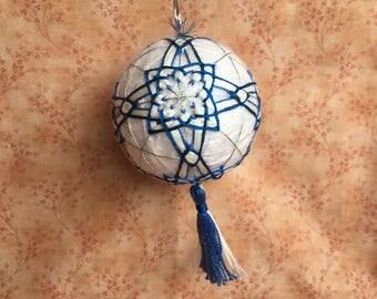 Handmade Temari Ball Ornament