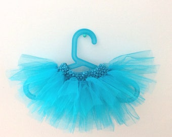 Tutu dancer star 0-6 months blue turquoise with matching belt